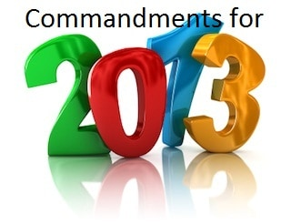 Your 10 personal finance commandments for 2013